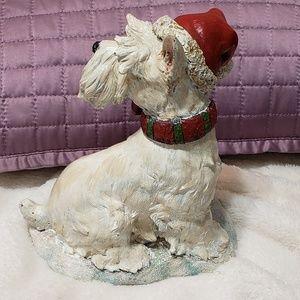 Holiday - Wheaten/Westie Terrier stocking hanger